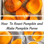 roasted pumpkin and pumpkin puree