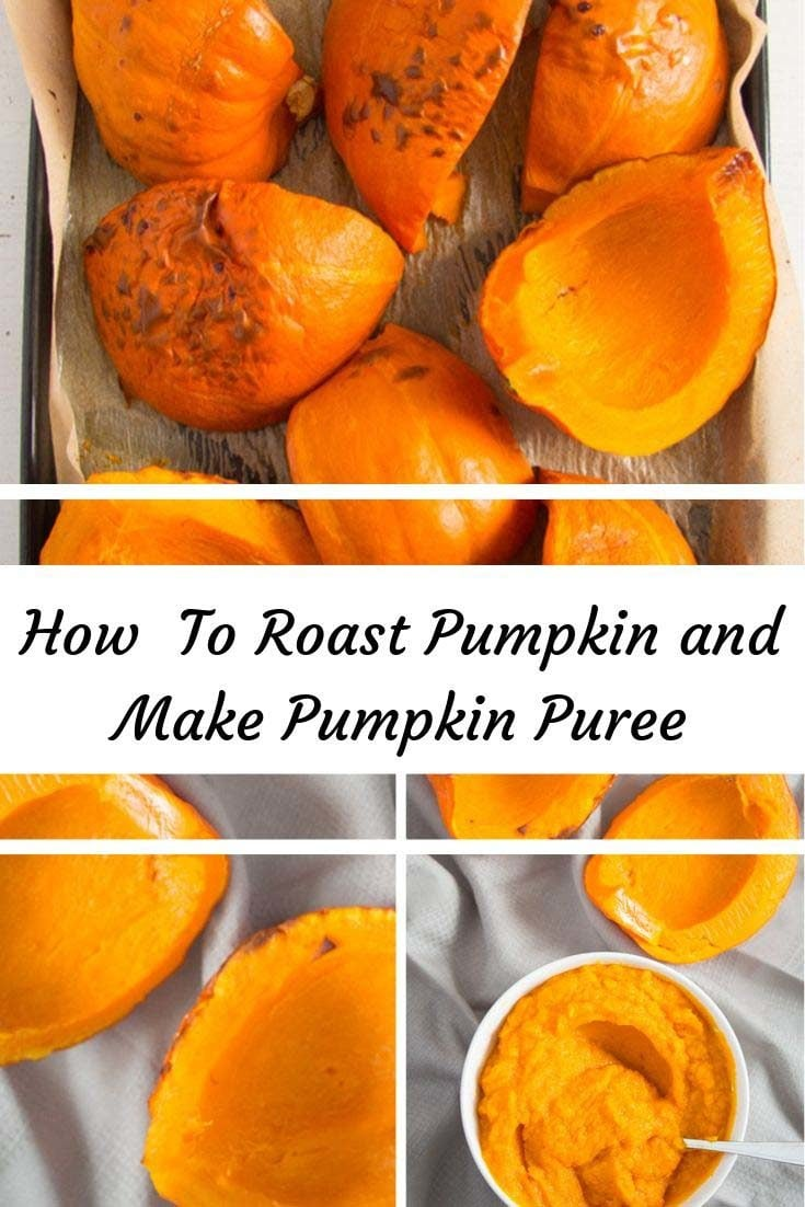How to roast pumpkin or squash and make pumpkin puree. Perfectly roasted pumpkin to use for soups, salads, baked goods and so on. #whereismyspoon #roastedpumpkin #howtoroastpumpkin #howtomakepumpkinpuree #pumpkin