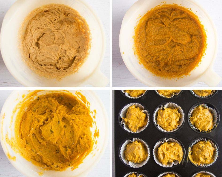 how to make the batter for chocolate chip pumpkin muffins