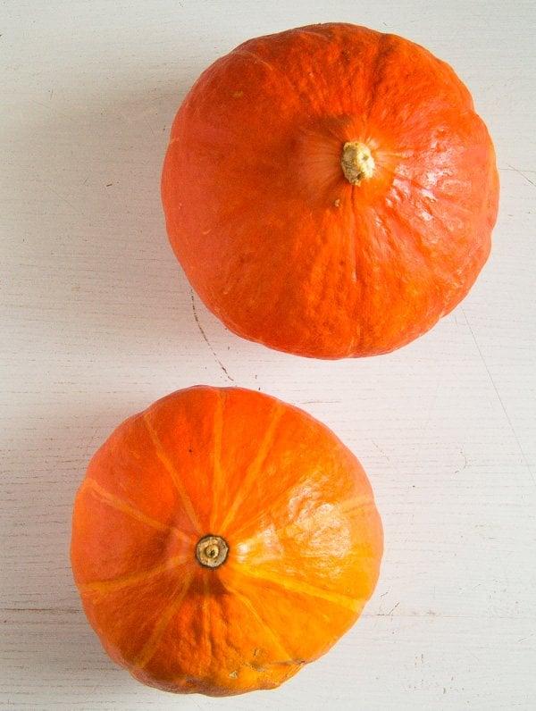 hokkaido pumpkin or kuri squash