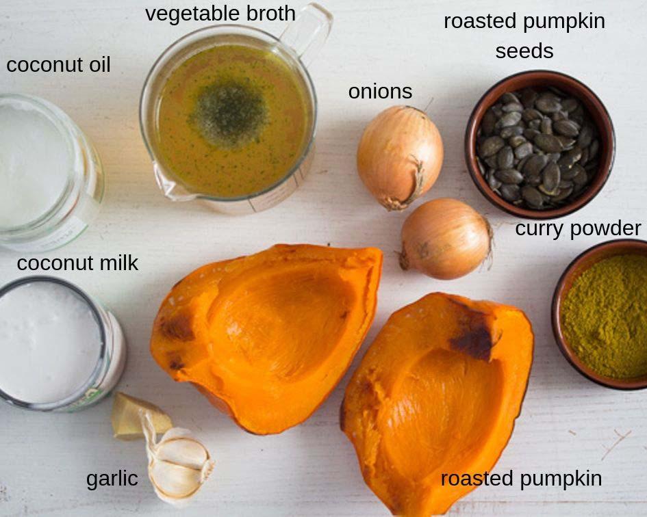 ingredients roasted pumpkin soup