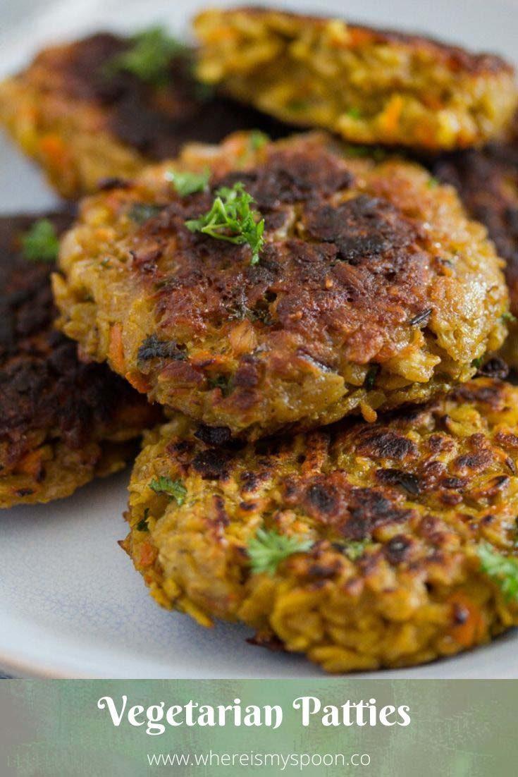 , Vegetarian Patties with Oats