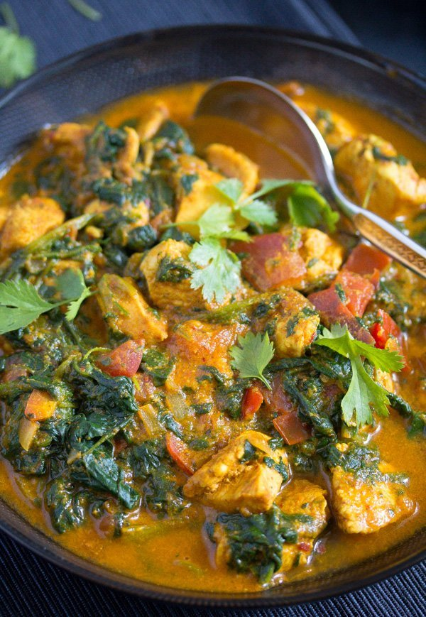 , Spinach Chicken Curry – Healthy Chicken Saag