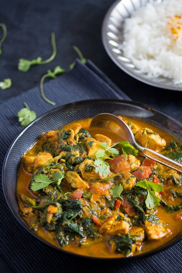 chicken spinach curry