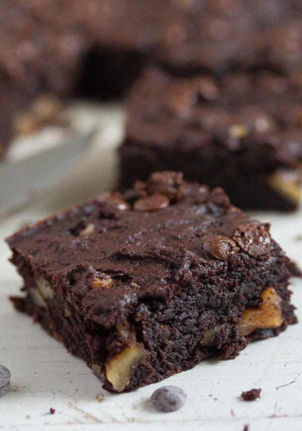 sweet potato brownies cut into squares