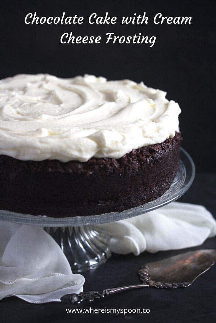 , Chocolate Cake with Cream Cheese Frosting