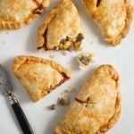 golden baked traditional cornish pasty