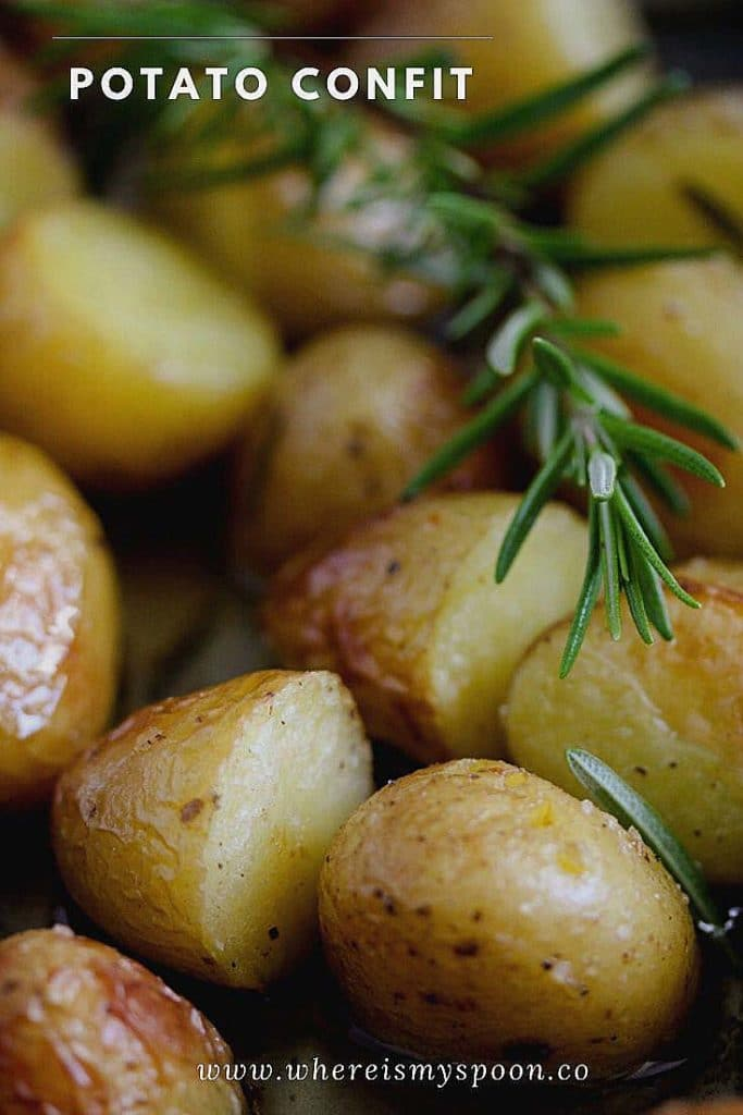 potato confit with rosemary