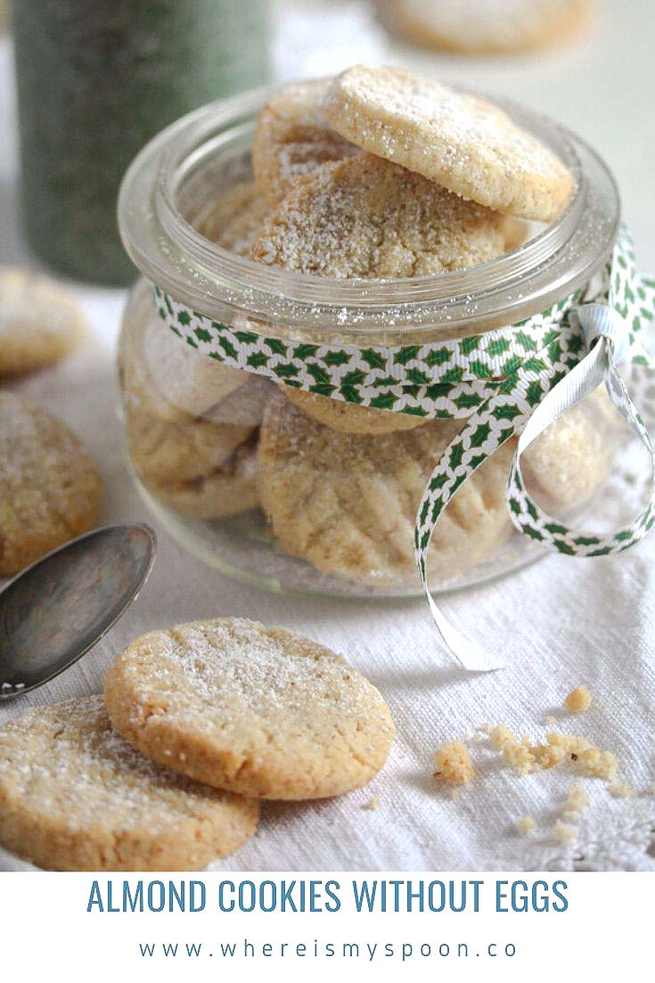 , Almond Cookies without Eggs