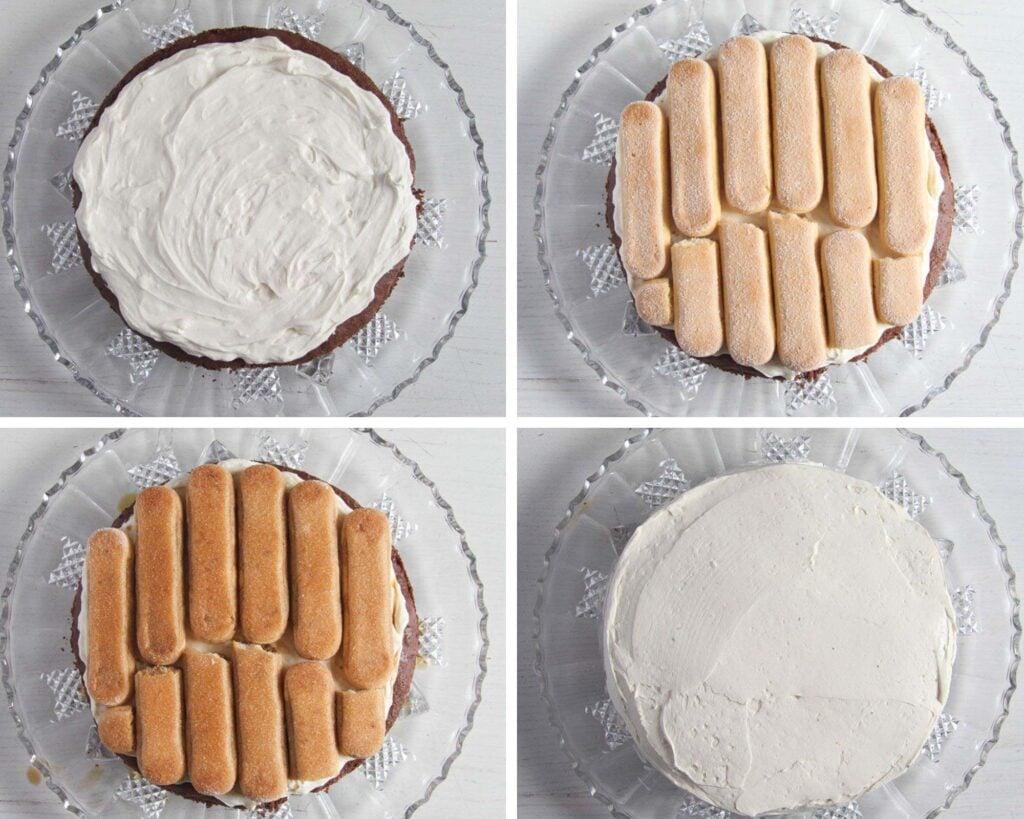 how to assemble a tiramisu cake