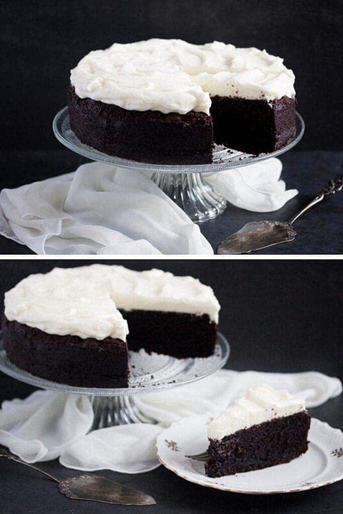 chocolate cake11 683x1024 Chocolate Cake with Cream Cheese Frosting