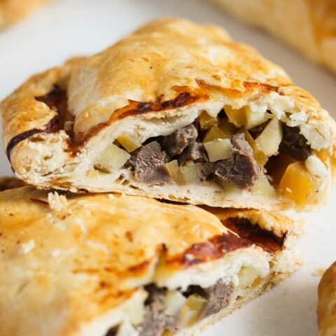 traditional cornish pasty recipe ready to be served