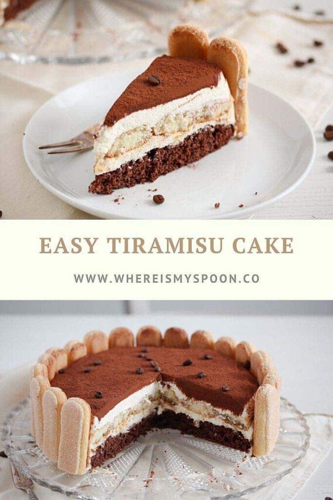 sliced mascarpone cake tiramisu