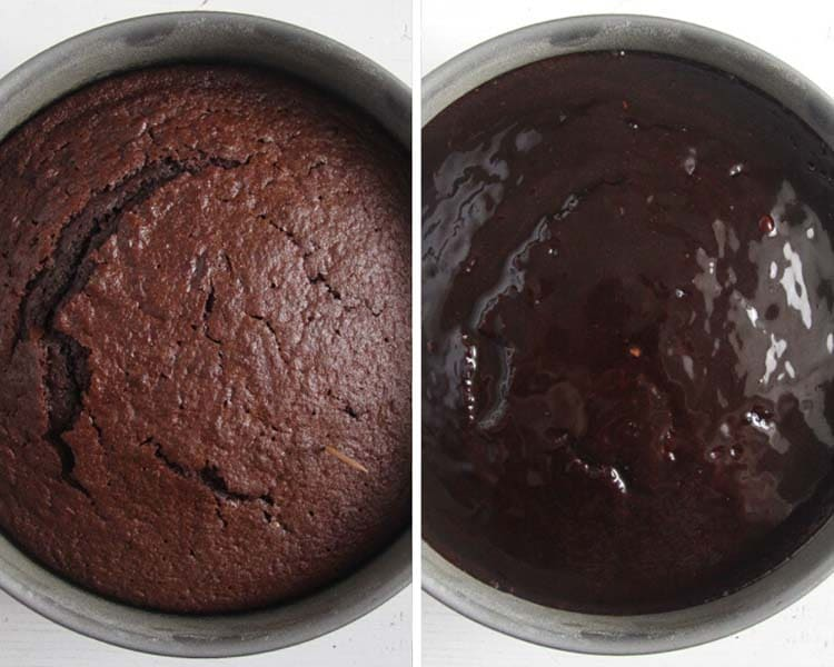how to glaze chocolate cake Chocolate Cake with Cream Cheese Frosting