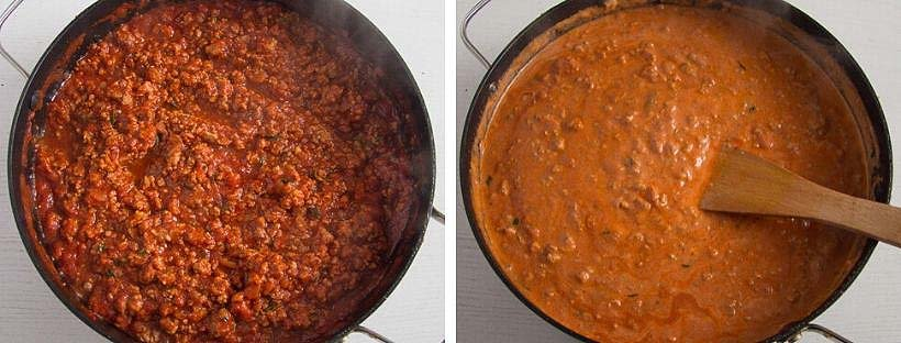 meat sauce for bolognese pasta bake