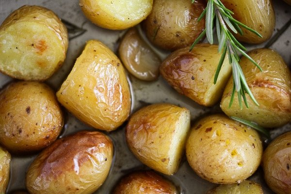 potato confit with rosemary and garlic