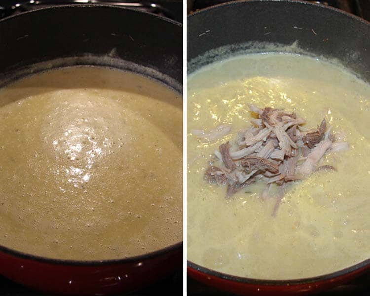 blended cream of turkey soup