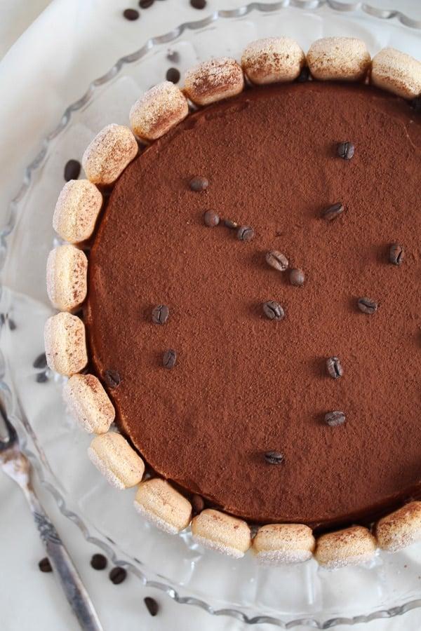 tiramisu cake with ladyfingers and mascarpone