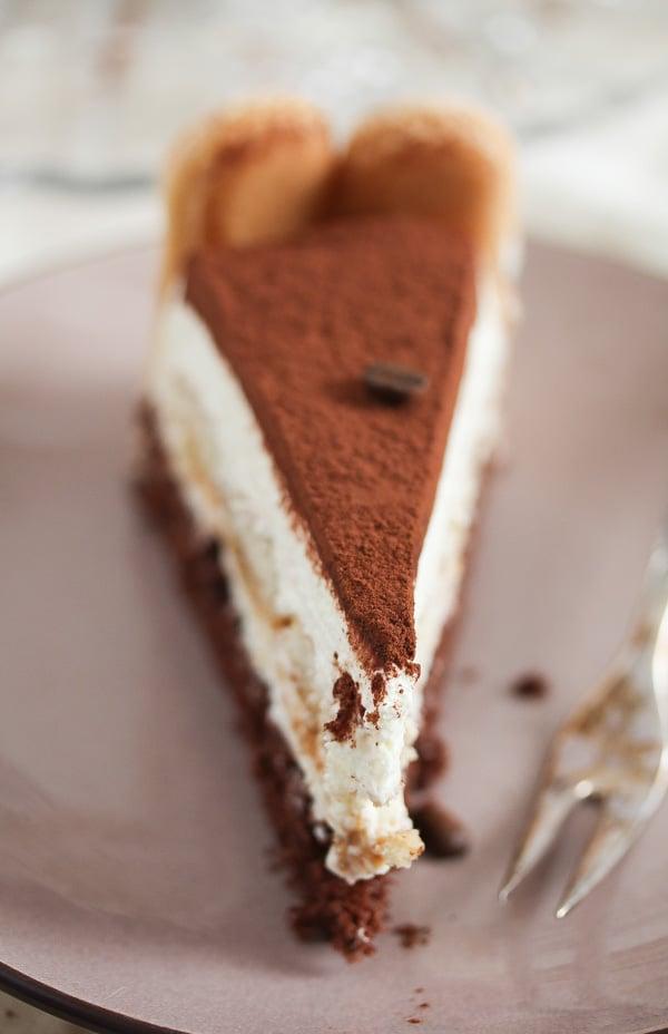 slice of tiramisu torte