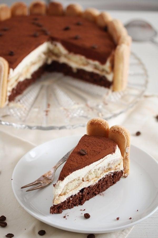 tiramisu torte ready to be served