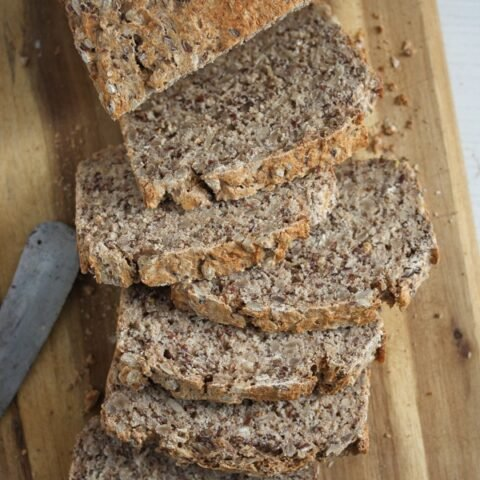 sliced buckwheat and spelt bread