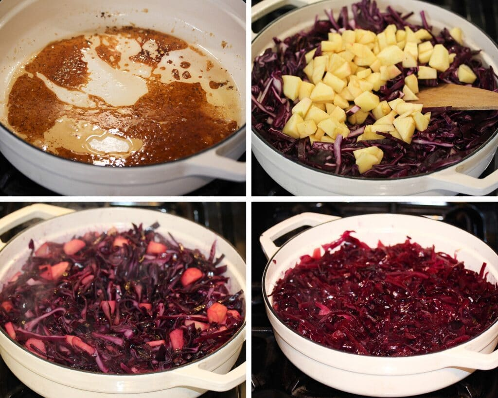 how to make red cabbage step by step