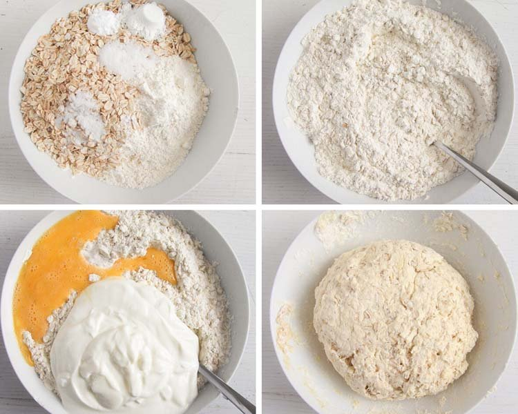 how to make oat bread without yeast step by step