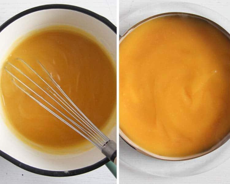 mango topping for mango mousse cake