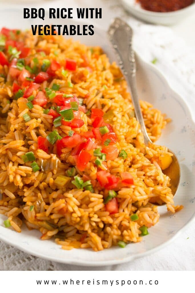 BBQ rice with vegetables