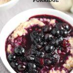 buckwheat porridge with blueberry sauce
