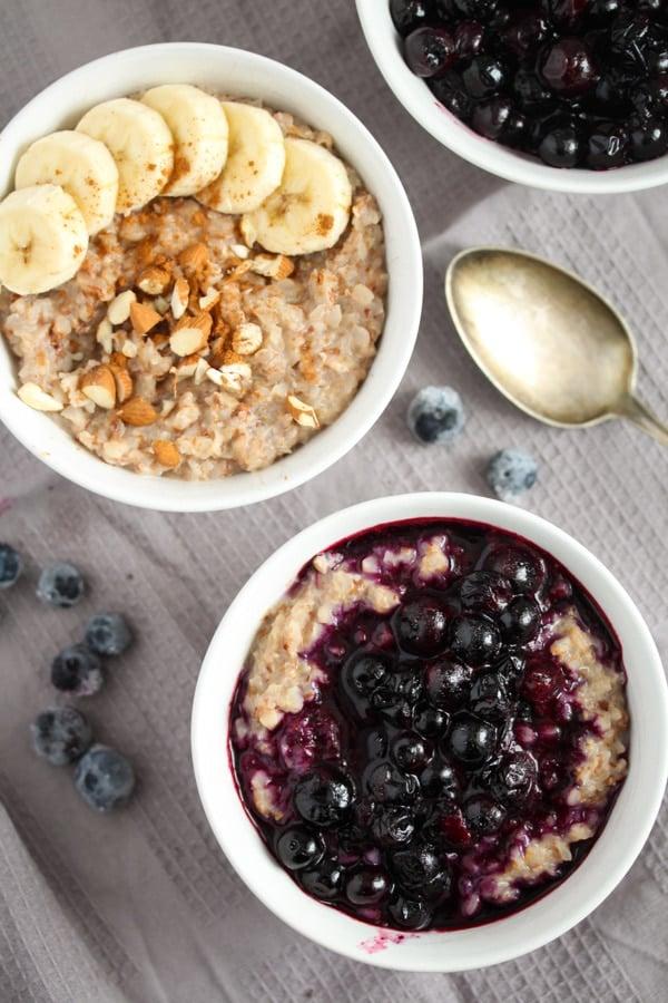 buckwheat porridge with berries for breakfast