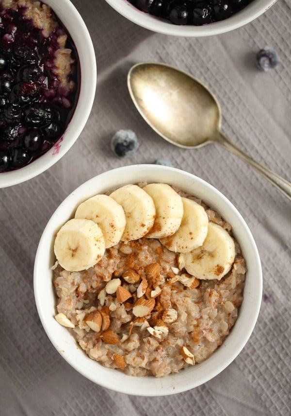 vegan buckwheat groats porridge