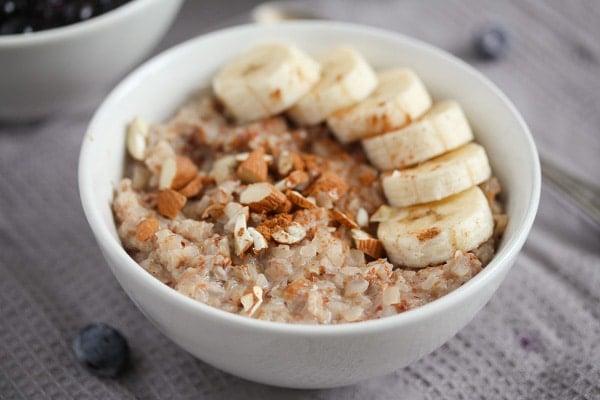 buckwheat groats porridge with banana