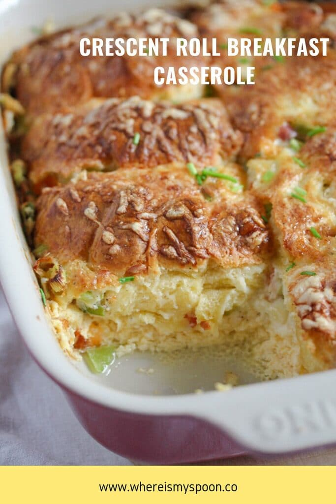 crescent roll egg bake for brunch