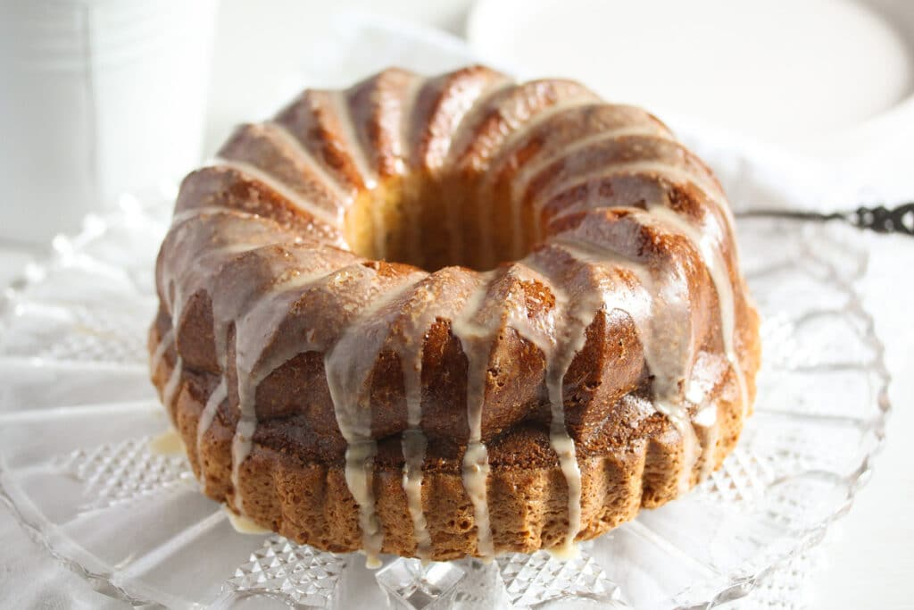 irish cream cake glazed with baileys