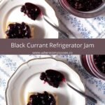 jam with black currants and agave syrup