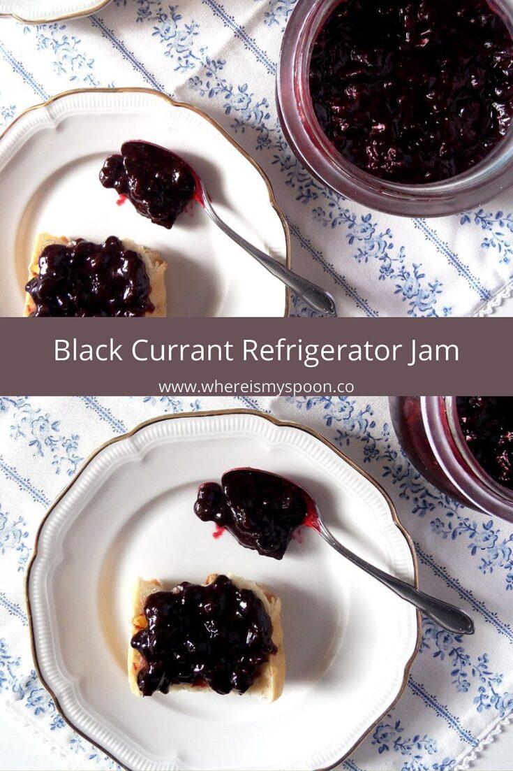 black currant jam, Black Currant Freezer Jam