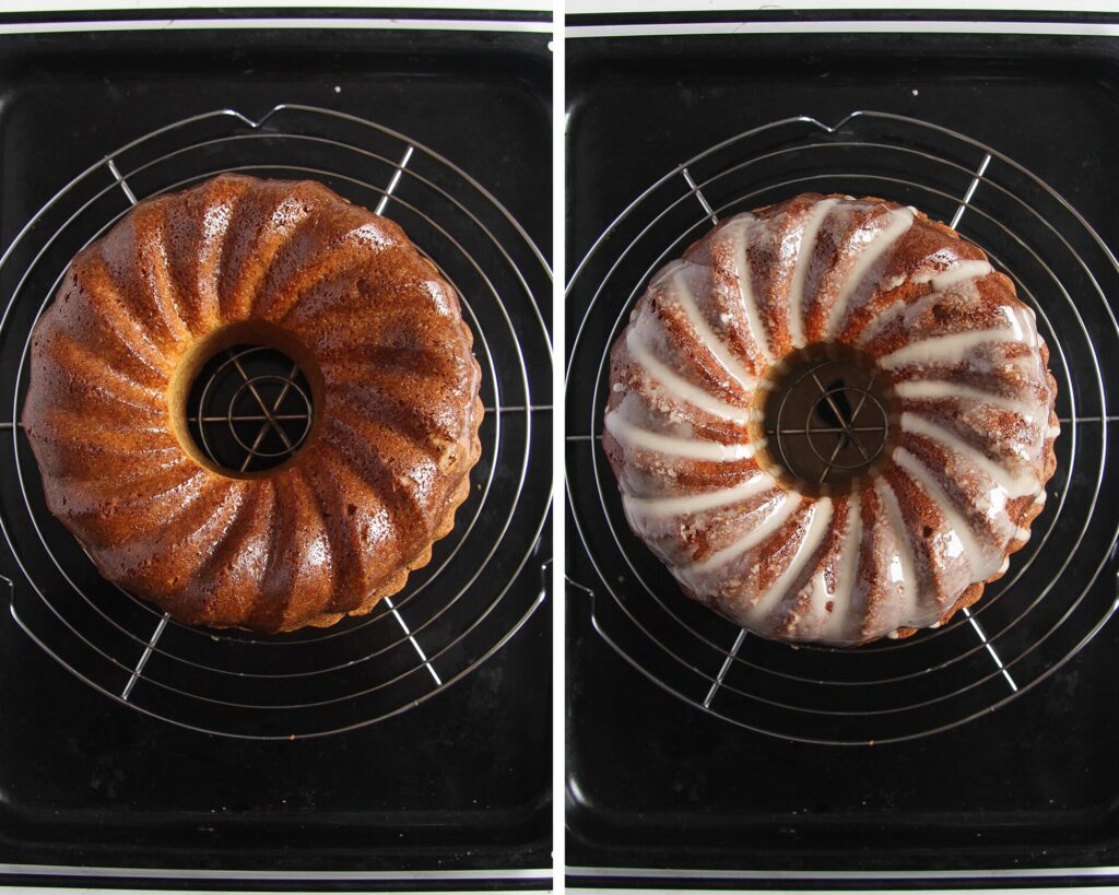 how to glaze bundt cake