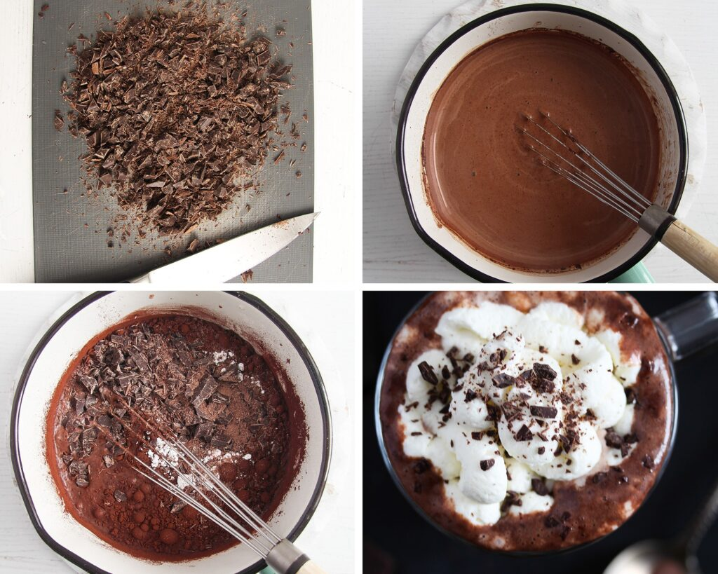 how to make chocolate drink step by step