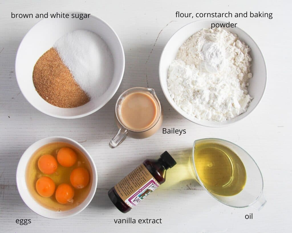 ingredients for baileys cake