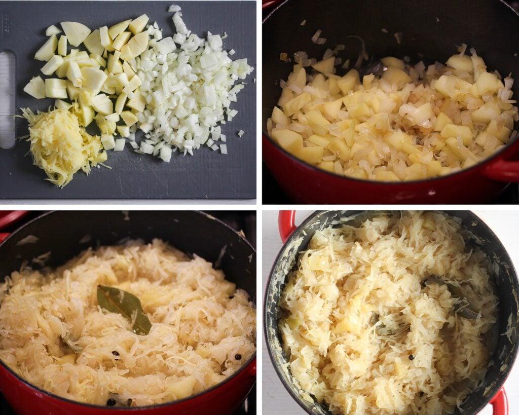 step by step cooking sauerkraut