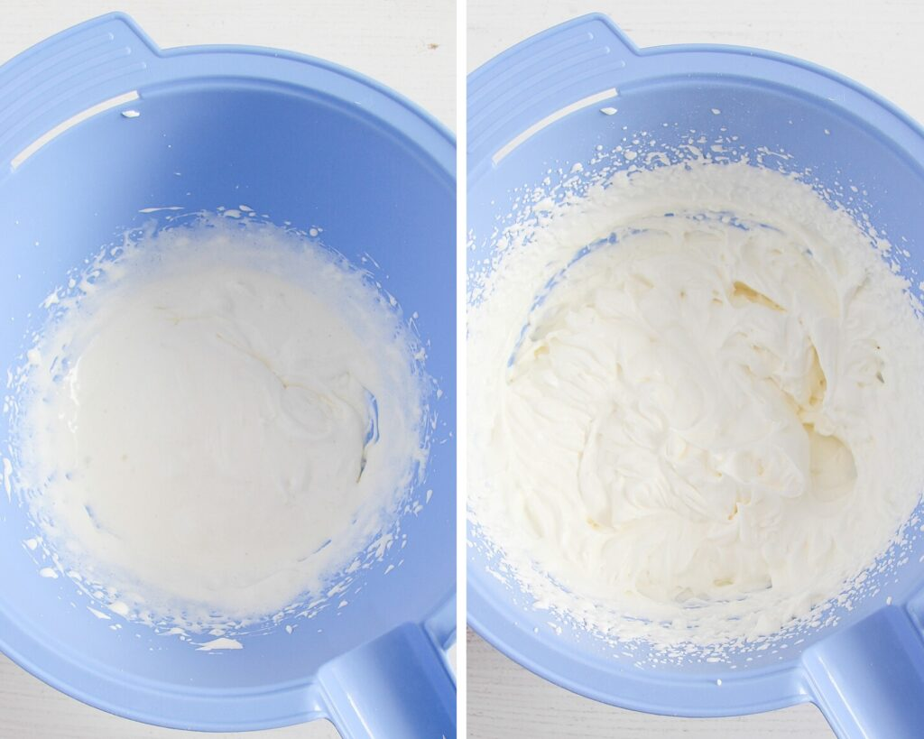 making a dairy filling for cake