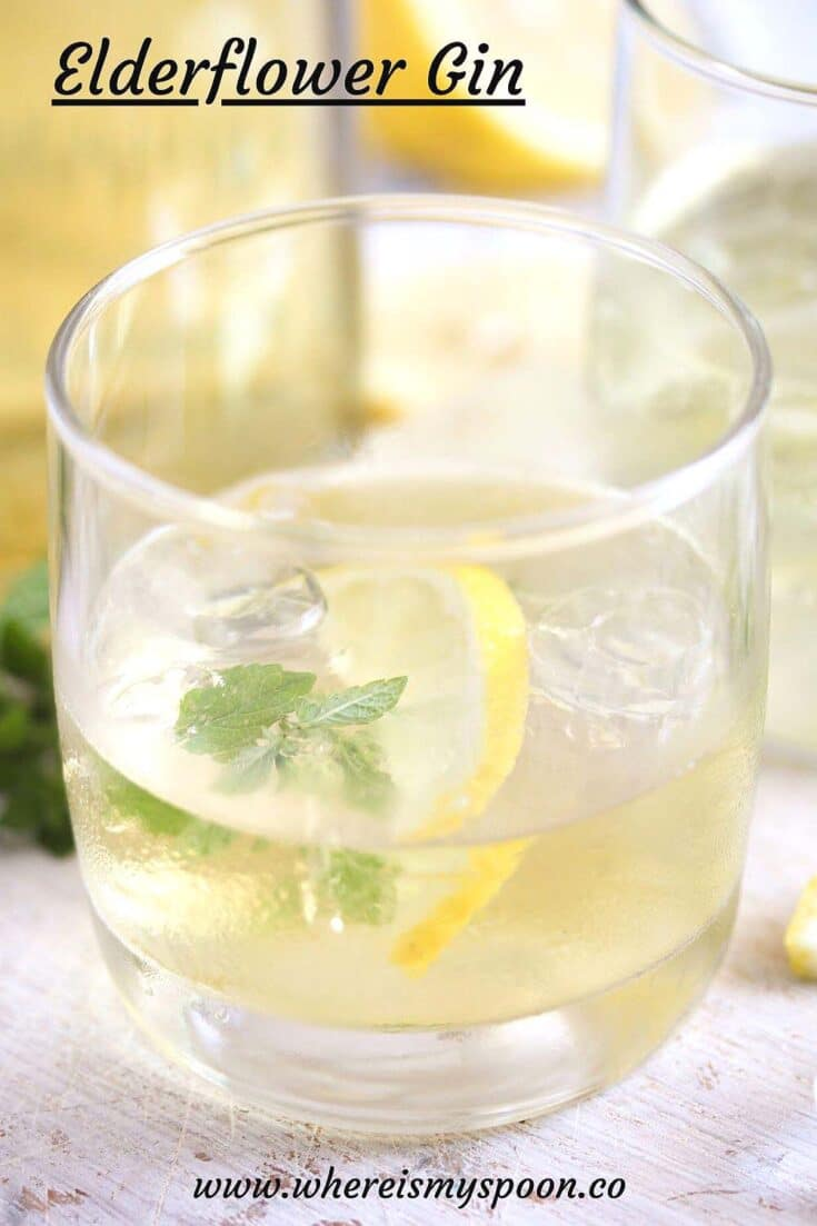 elderflower gin, Homemade Elderflower Gin