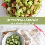 two ways of freezing chopped rhubarb