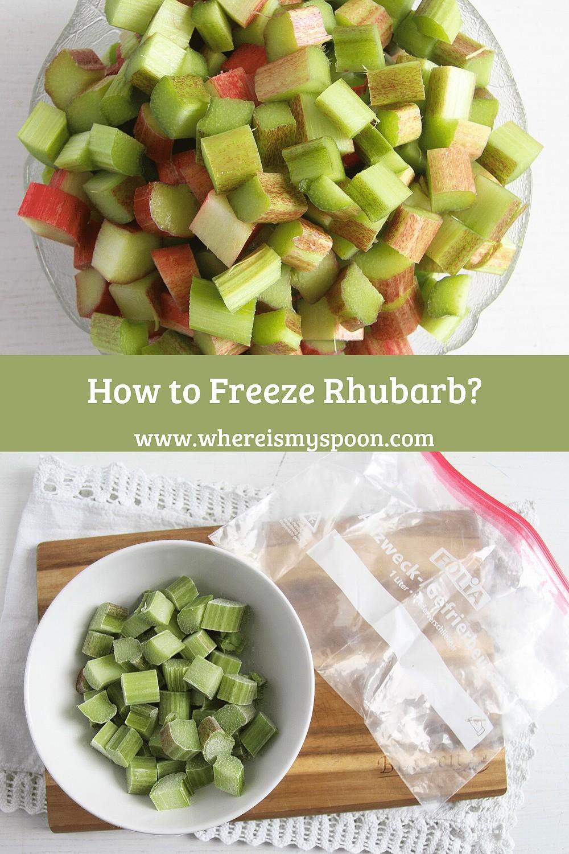 freezing rhubarb, Freezing Rhubarb (Two Methods)