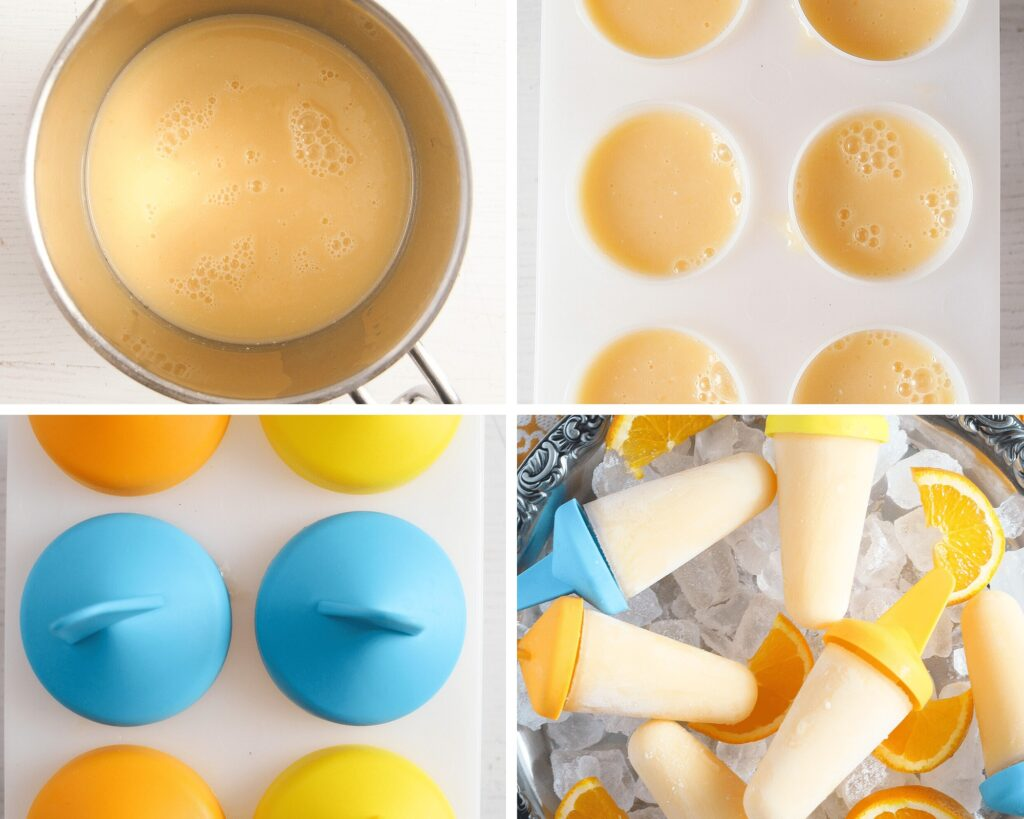 how to make orange pops step by step