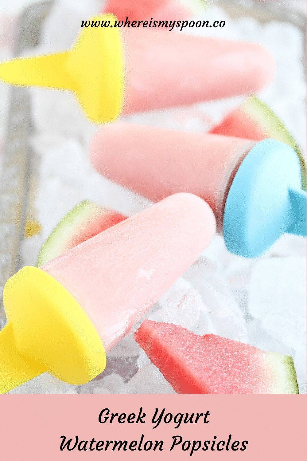 popsicles on a ice cubes bed