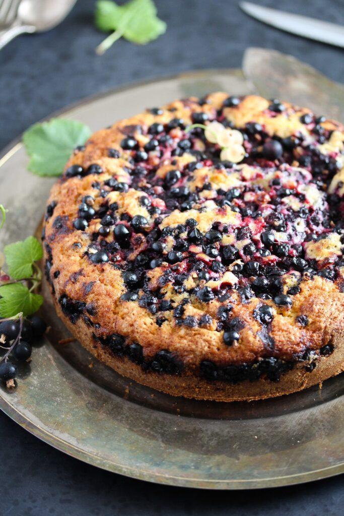 berry dessert served on a platter