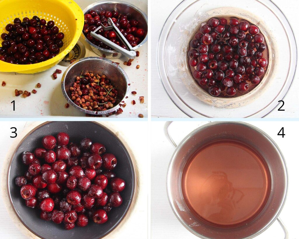 cherries in syrup, Cherries in Syrup