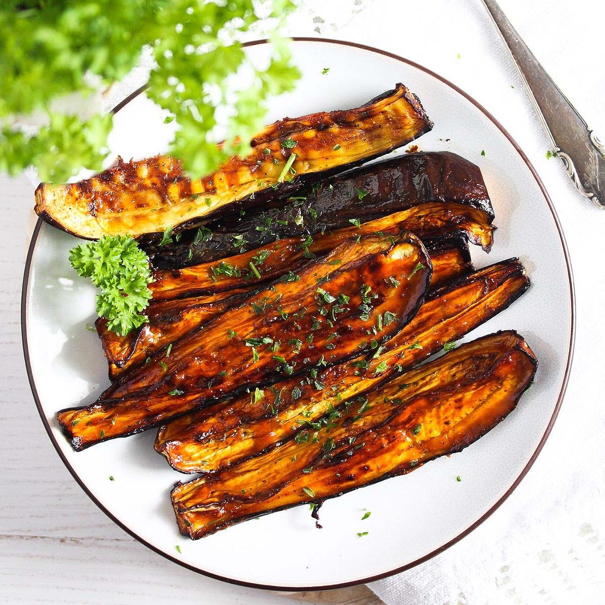 Air Fryer Eggplants (Two Ways)